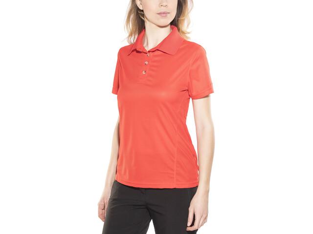 Meru Wembley Functional Polo Shirt Damen fiery red